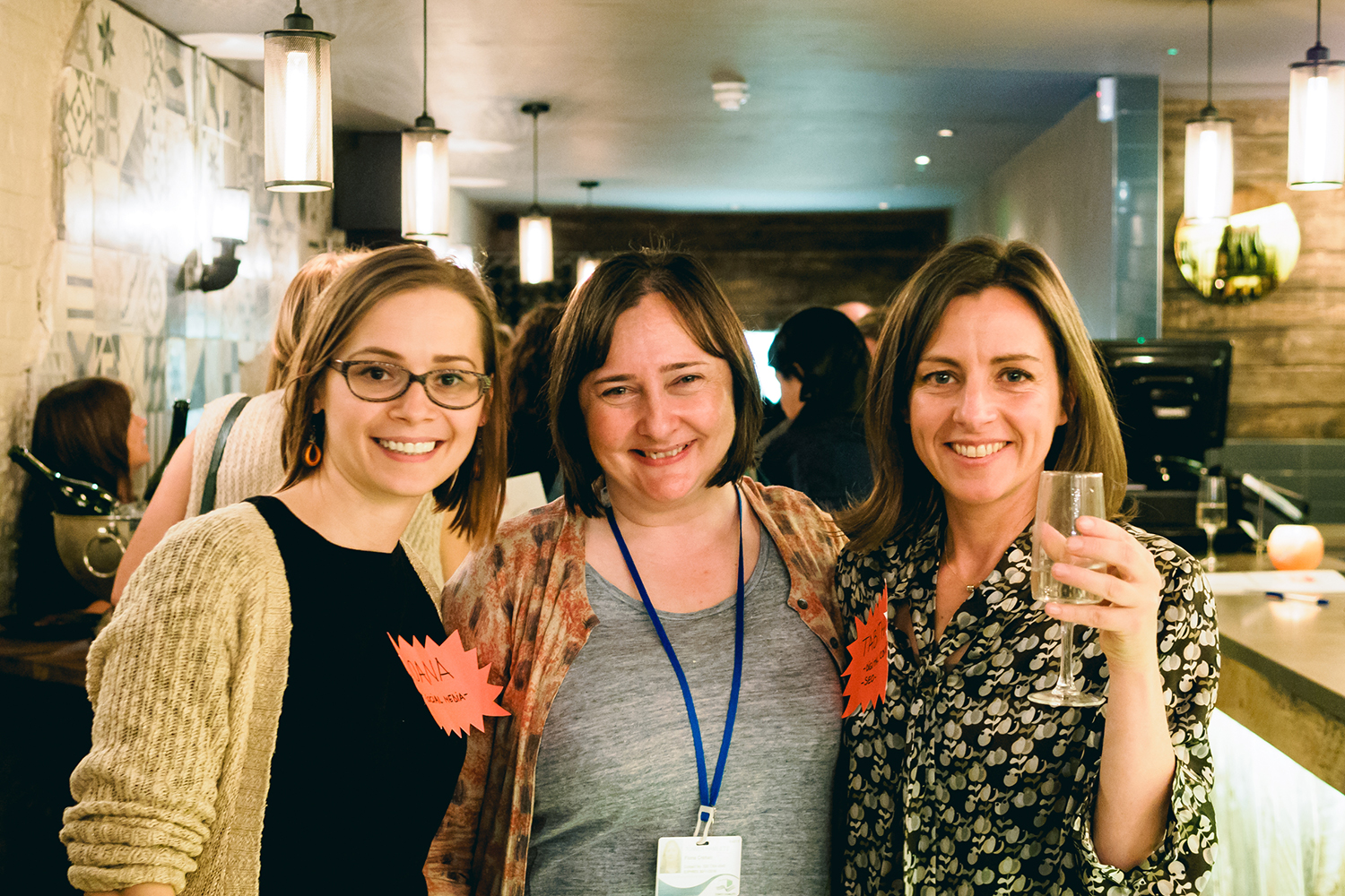 From left, Ioana Dragomir, Fiona Crehan and Tabitha Stapely