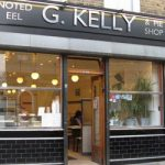Roman Road independent shop GKelly pie and mash shop
