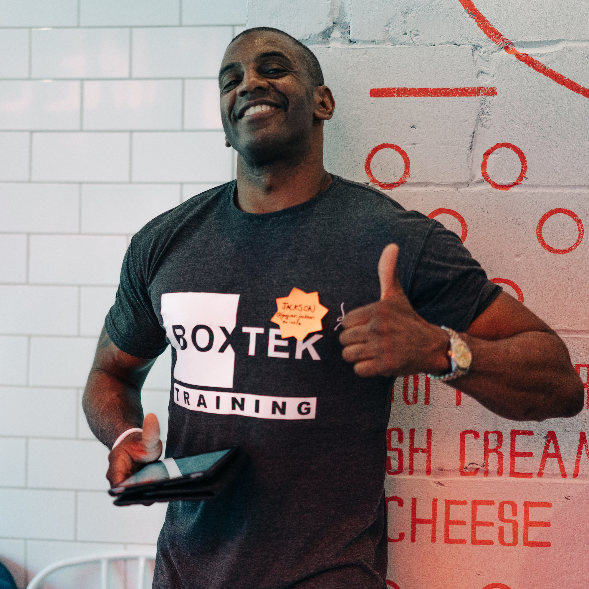 Local Boxtek business manager at POW Digital Camp meetup in Whitechapel