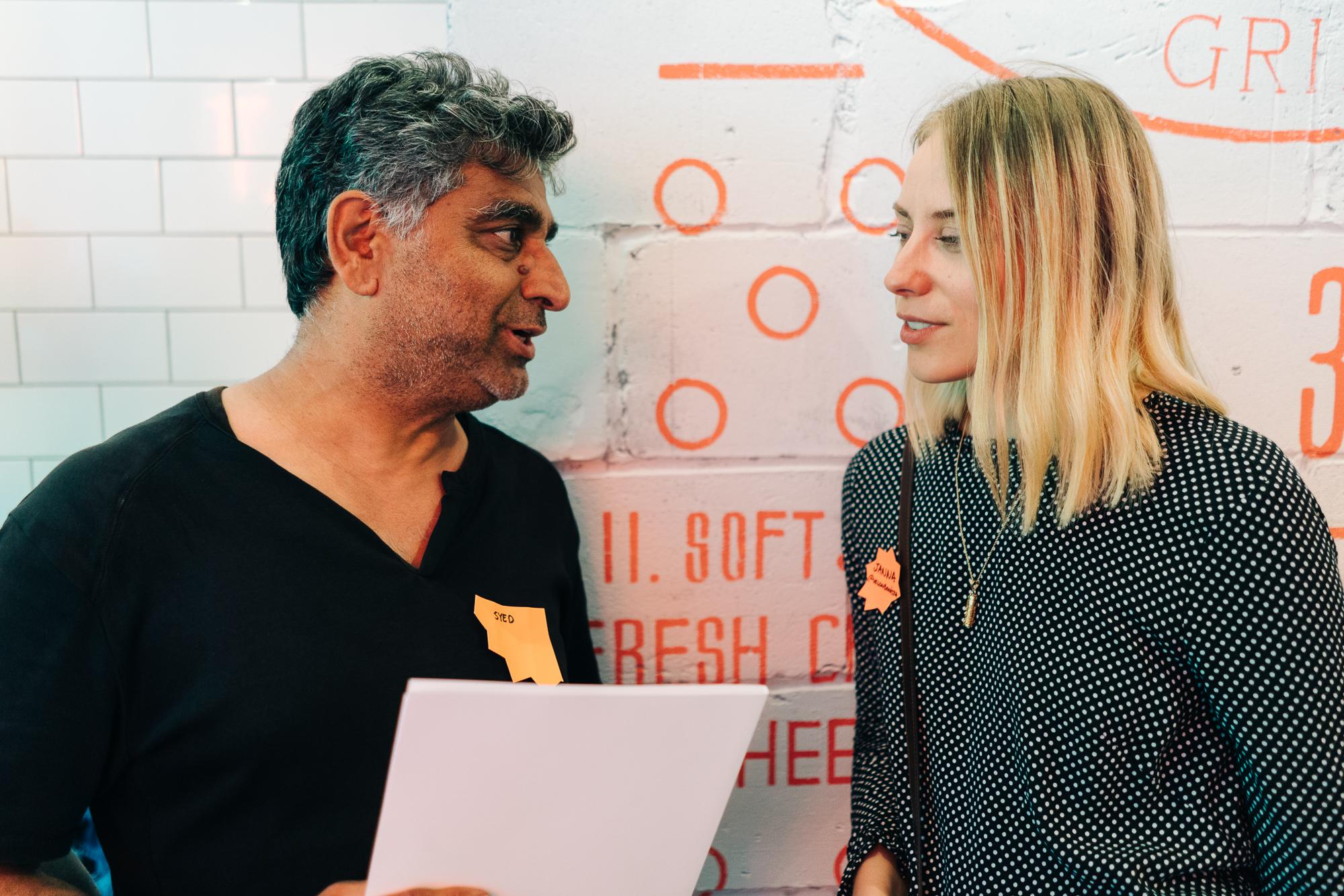Digital mentors and local businesses at POW Digital Camp meetup in Whitechapel